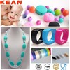 Baby Enjoy Silicone Necklace/Food-safe Odorless Mom Accessories Nursing Chic Chew Teething Kids Bead Jewelry