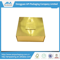 2015 New Products Paper Custom Food Packaging with PVC tray and Magnet Box in Dongguan