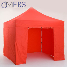 red color event shelter beach ice fishing 3x3 portable shelter folding tent with printing