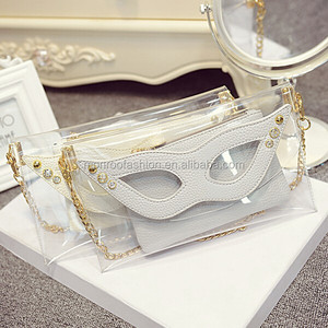 Monroo summer transparent plastic one shoulder jelly bag