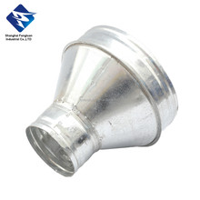 Galvanized Steel Eccentric Pressed Reducer with Rubber For air duct