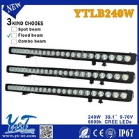 Off road led light bar cover,with strong mounting bracket 39.1 inch 240w led work light bar for tractor auto parts