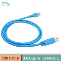 Blue color high speed usb cable for cellphone fan for sale