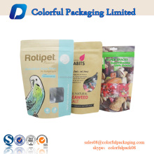 500g 1kg ODM ziplock food packaging bag China customized brown kraft paper bag with window and zipper stand up pouch kraft
