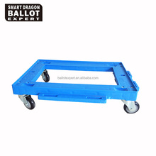 Four Wheel Furniture Moving Plastic Dolly Heavy Duty Hand Truck Use in Supermarket 4 wheel dolly