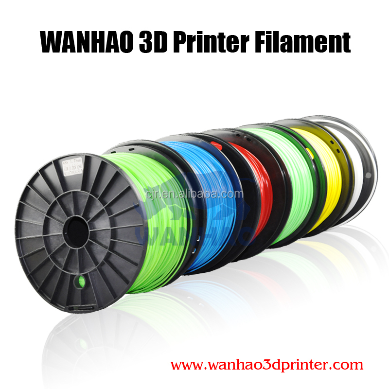 High quality Wanhao ABS /PLA <strong>plastic</strong> DIY printing <strong>materials</strong>, 3D filament for 3d printing machine, printing company big sale