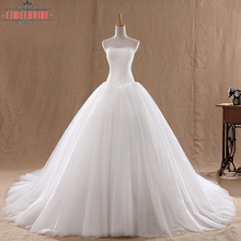 Strapless long tail Wedding Dress Bridal Ball Gown Dresses