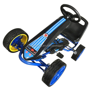 pedal powered berg kids yellow go kart