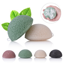Private Label Wholesale Top Organic Natrual Facial Compressed Cleaner Magic Sponges Green Tea Import Konjac Sponge With Charcoal