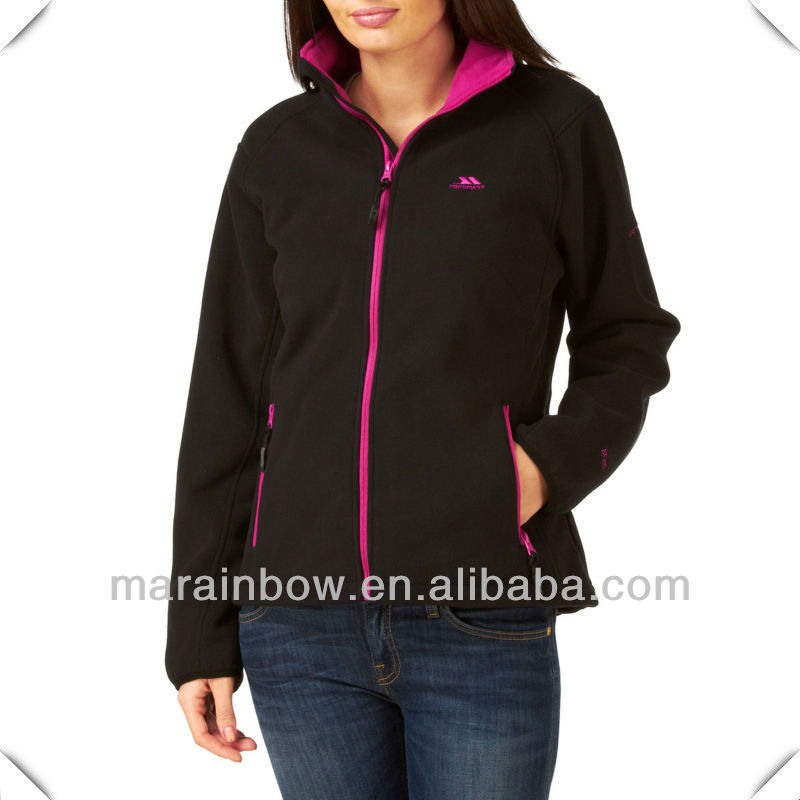 Ladies' Prety Full-zipper Jacket with Pouch Pockets