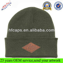 Beanie hat custom cotton acrylic beanie mens knit beanie pattern knitted hat