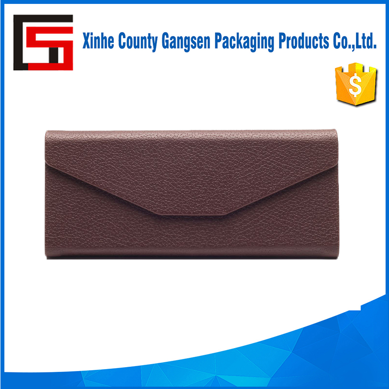 Wholesale folded hard sunglasses leather case for sun glasses