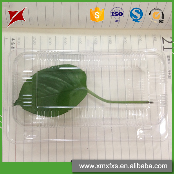 Hot sale fresh herb food grade plastic PET clamshell fruit packaging tray