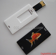 Ultra slim USB flash drive , mini credit card usb flash drive , mini name card usb flash drive with full color printing