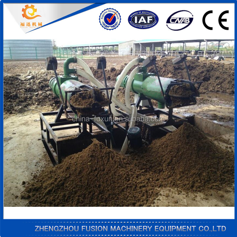 Trade Assurance poultry cow dung recycling dewatering machine / manure extruder / poultry dung recycling solid liquid separator
