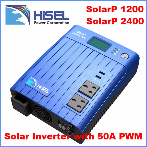 HiSEL modified sine wave 1200VA 2400VA hybrid solar inverter