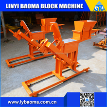 QM2-40 earth soil manual interlocking block making machines