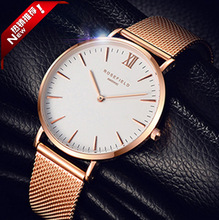 2017 Casual Fashion japan Movt rose gold watch stainless steel watch quartz watch