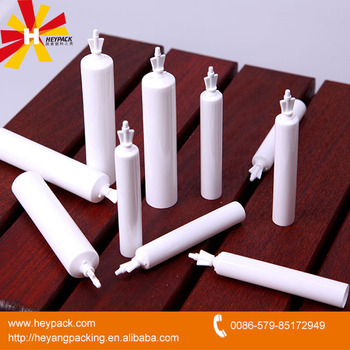 D19mm white plastic tube with twist off