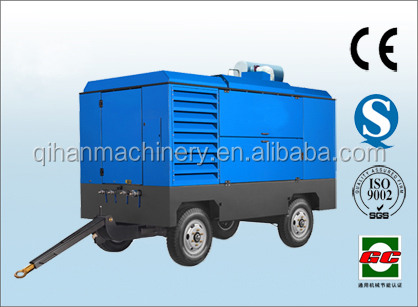 high pressure portable diesel screw air compressor