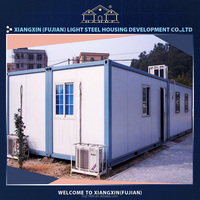 Prefabricated folding steel expandable container house