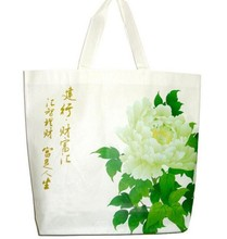 custom reusable non woven bag with dual reinforced carrying handle