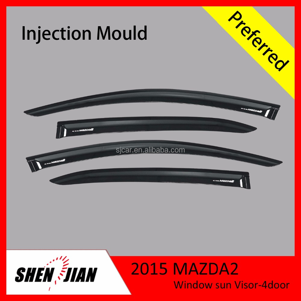 Side Window Deflectors by PMMA Material Door Window Visors From Factory Sun Visors Exterior Car Accessories MAZDA 2 Parts