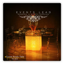 Clear Acrylic Crystal Wedding Table