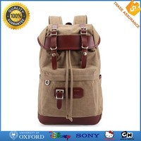 Fashion cheap canvas bag school backpack for university students