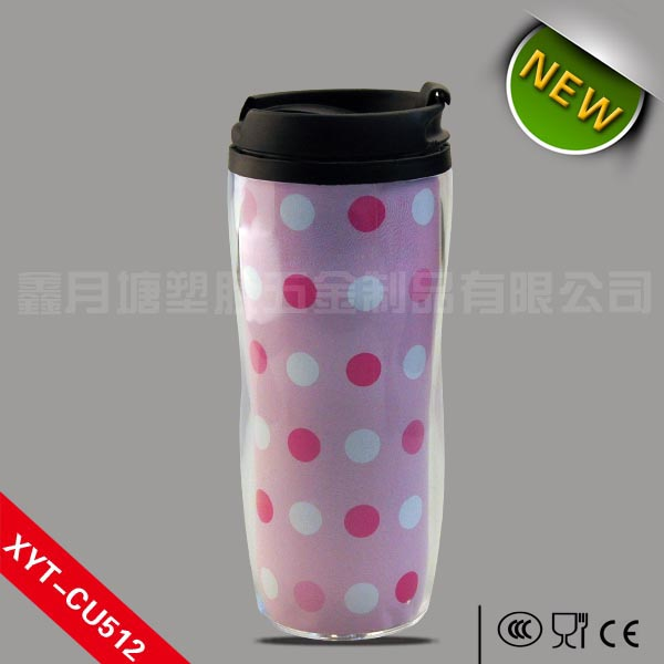 2014 Shenzhen Wholesale Leak Proof Plastic Drinking Cup 350ml, Cheap and Fine