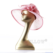 Dispaly hat mannequin gold head model H1074