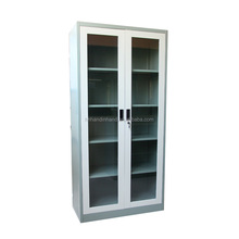 Profession office used laboratory steel glass door storage cabinet