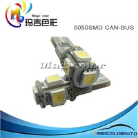 360-degree Error Free 5-SMD-5050 2825 W5W LED Bulbs Built-in Load Resistors T10 led Canbus