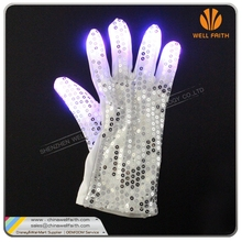 Party Halloween LED Glove Party favor Light up rave glove LED flashing paillette gloves