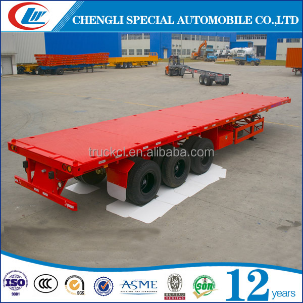 12M Long Good Price Trailer Flatbed Semi Trailer for 40ft Container