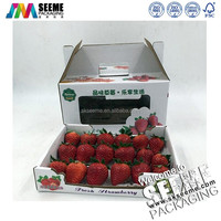 Glossy Laminated Corrugated Color Cartons Strawberry