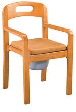 Russian style wood toilet chair with PU SEAT