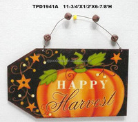 Metal Tin Sign Pumpkin Wall Hanging Plaque Thanksgiving Harvest Fall Decor