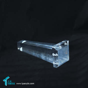 Simple Living Leona Bench with Acrylic Square Lucite Tapered Leg Acrylic Leg Platinum Bench