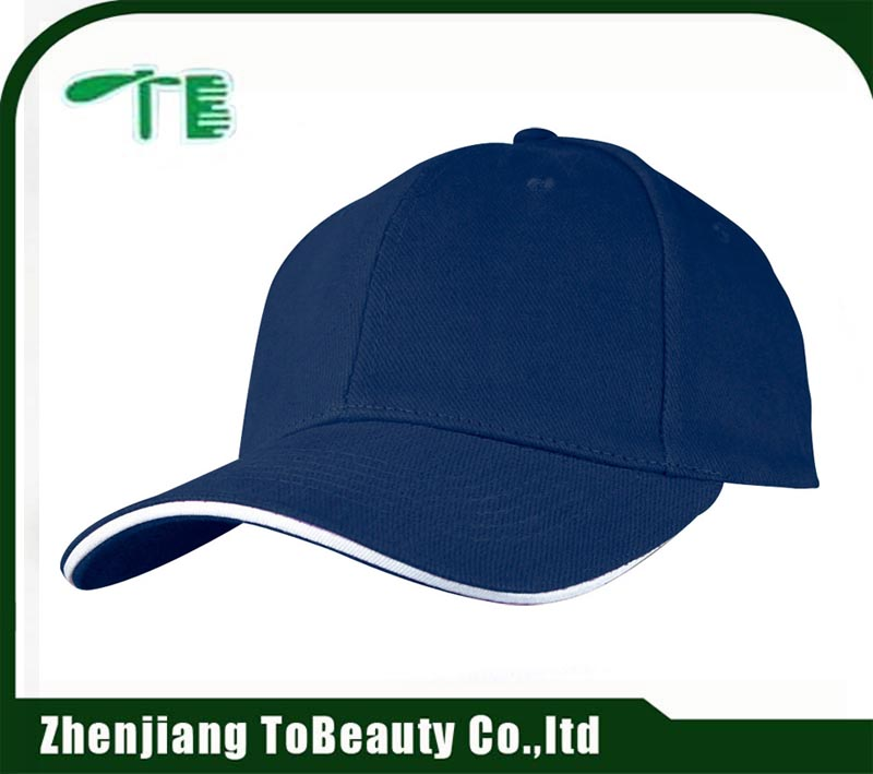 Fashion plain style patched light white adult size embroidered baseball cap for sale