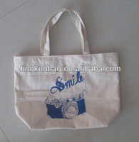 OEM 10OZ plain tote cotton gusset bag with logo printing