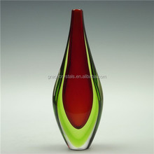 Red art glass bottle vase decorative glass vase