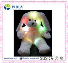 Custom electronic plush shining led rabbit animal toys
