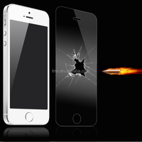9 Years Gold Supplier Anti shock 2.5D 9H Tempered Glass screen protector for iPhone 5 5c 5s