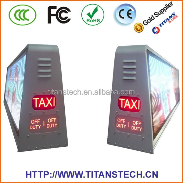 High brightness top taxi display led,taxi roof top advertising signs,led display for taxi