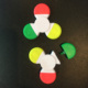 plastic hand fidget spinner toys hand spinner relieve stress with highlighter pen