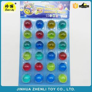 High bounce ball custom18mm 27mm 32mm rubber ball toy bouncing glitter ball