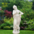 outdoor home decorate Life Size white marble vivid girl sculpture