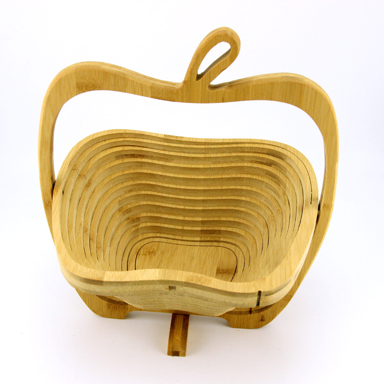 Wholesale cheap promotion folding wooden fruit basket