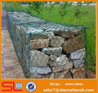 Retaining gabion wall cost / pvc coated gabion wire mesh